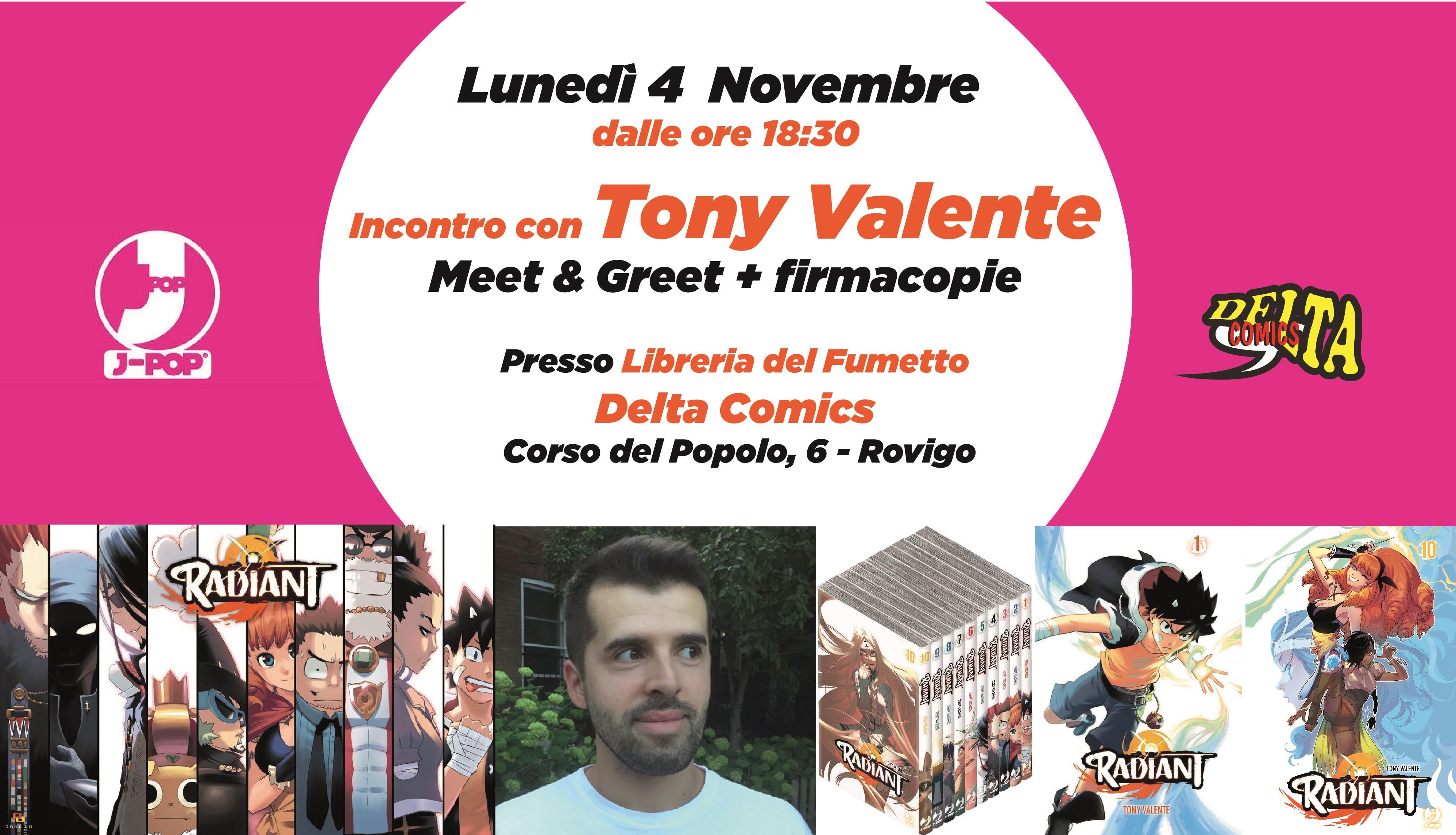 Incontro firmacopie con Tony Valente l'autore di Radiant