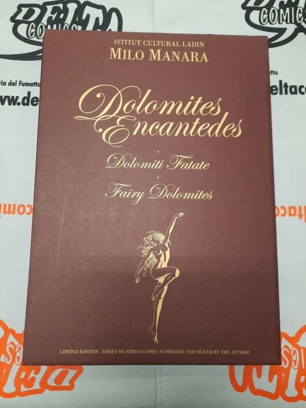 Milo Manara - Portfolio Dolomites Encantedes firmato numerato + libro + tshirt + card