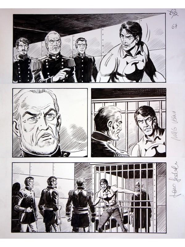 """ZAGOR Vendetta infinita - Cartella con tavola originale Zenith n. 654 - """"Nei sotterranei di Altrove"""" pag. 33 - SCLS Magazine"""