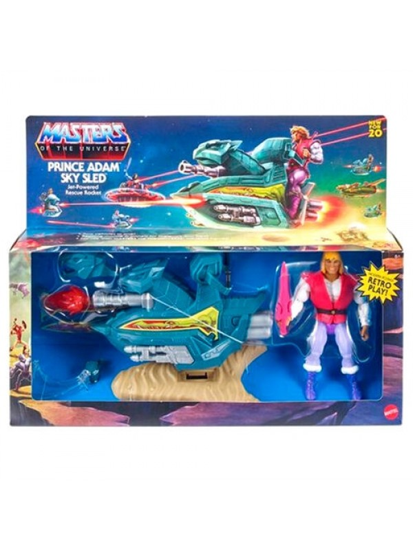 Prince Adam + Sky Sled - Masters of The Universe (MOTU) (2020) - Mattel