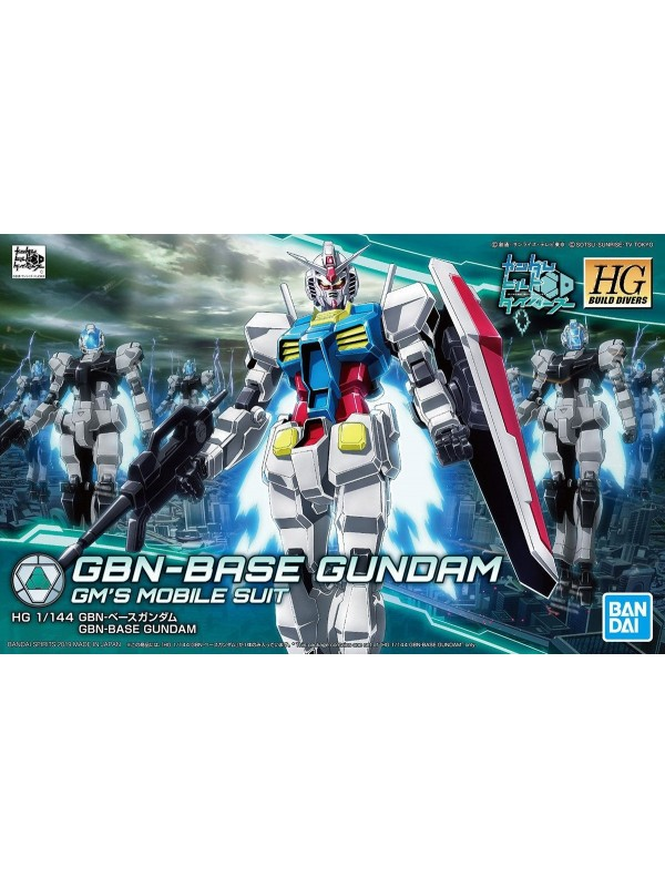 GBN-Base Gundam - GM's Mobile Suit - 1/144 Scale - HG High Grade Build Divers