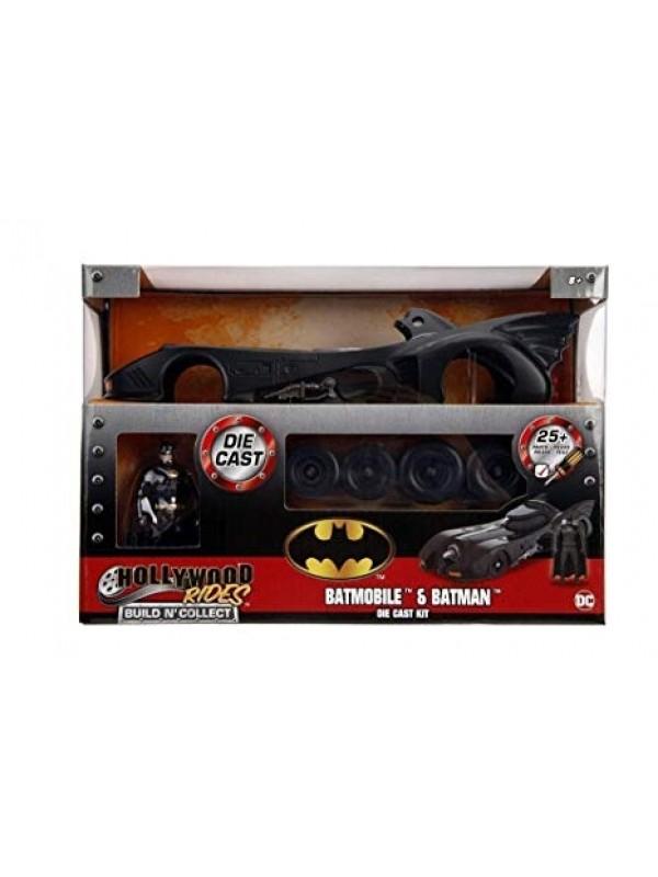 Batmobile & Batman - Die Cast Kit - Metals Die Cast - Hollywood Rides - Build n' Collect