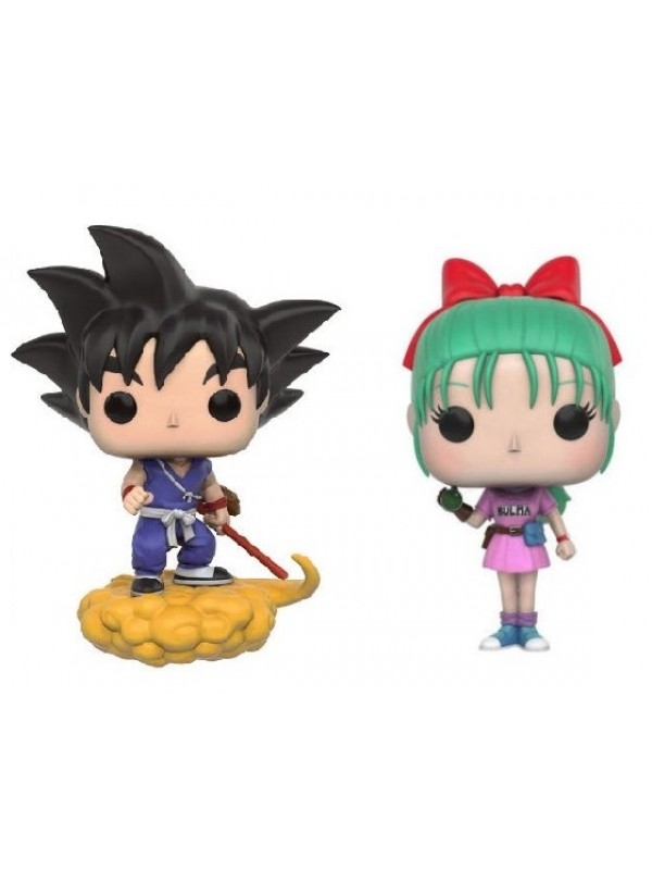 Bulma, Goku & Flying Nimbus - Dragon Ball - Vinyl Figure - Pop! Animation 108 - 109