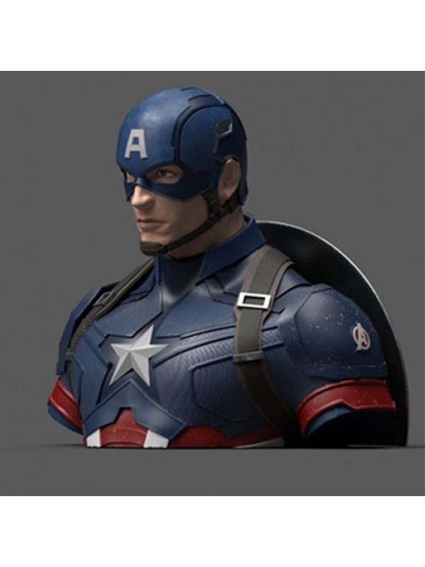 Captain America - Deluxe Bust Bank - Avengers Endgame - Semic