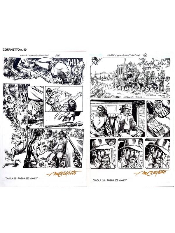 Zagor - Portfolio/Tavole originali - Cofanetto n. 10 + Rivista - SCLS Magazine