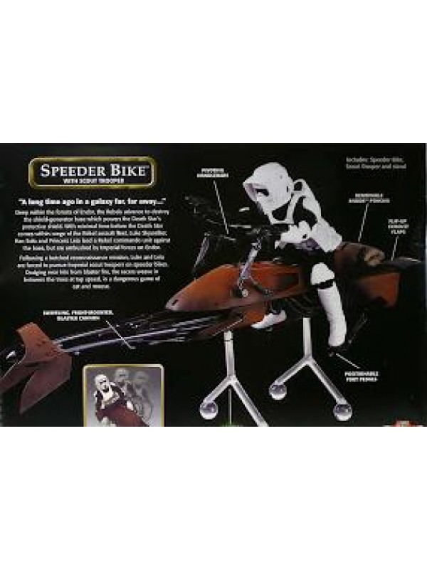 Speeder Bike with Scout Trooper - Star Wars The Power of The Force - Hasbro Action Collection