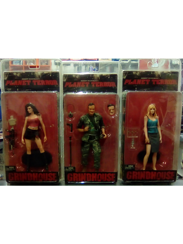 Cherry, Dakota e Rapist No. 1 - Planet Terror - Grindhouse - Set di 3 Action Figure