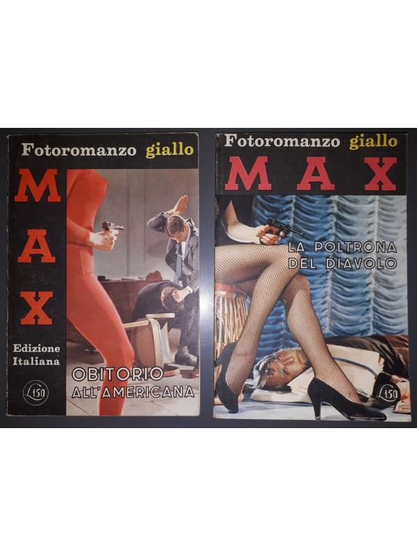 MAX - Fotoromanzo Giallo - Editrice Sadea - 1965/66 - Serie completa 1/2