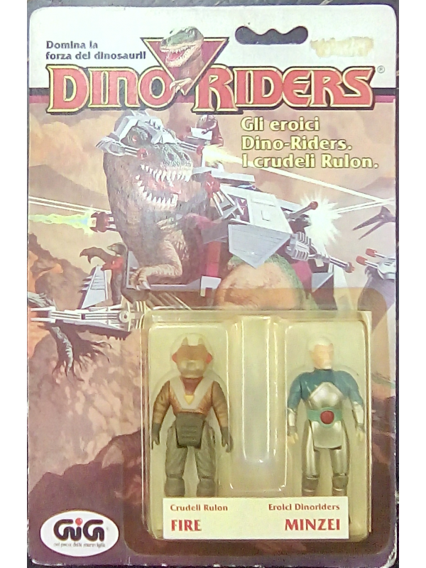 Fire e Minzei - DinoRiders - GIG - Set di 2 mini action figure