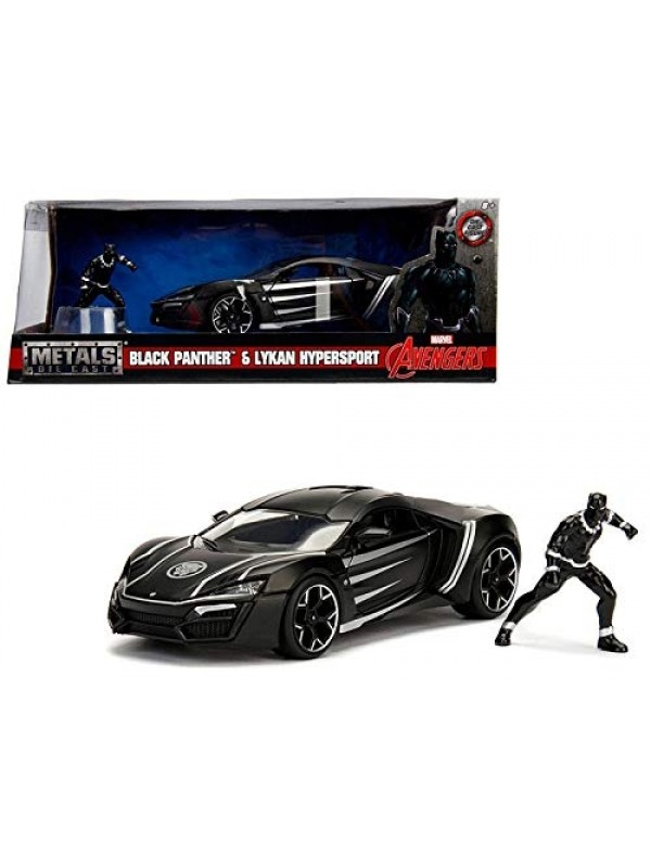Black Panther & Lykan Hypersport - Metals Die Cast - Hollywood Rides