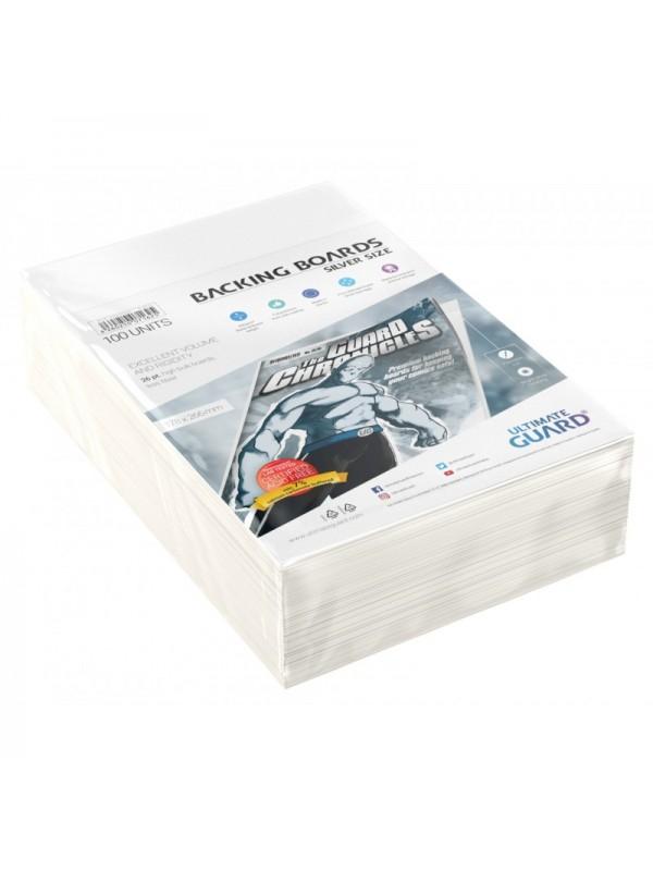 Backing Boards - Silver Size - Cartoncini rigidi per fumetti (formato 178x266 mm) - Ultimate Guard