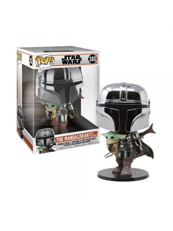 The Mandalorian with the Child - Star Wars - Bobble-Head -  25cm - Funko - Pop! 380