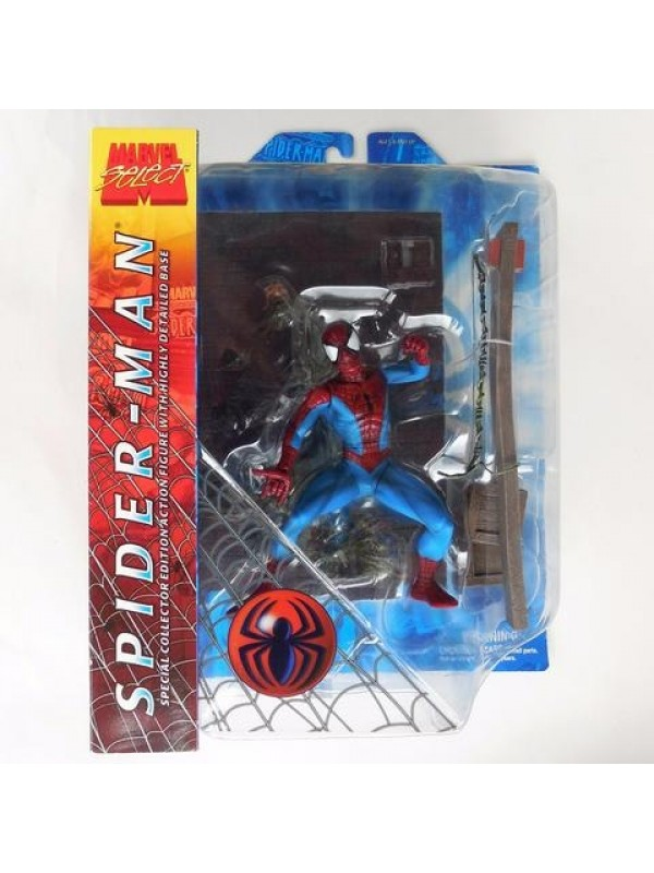 Spider-Man- Special Collector Edition Action Figure with Highly Detailed Base - Marvel Select