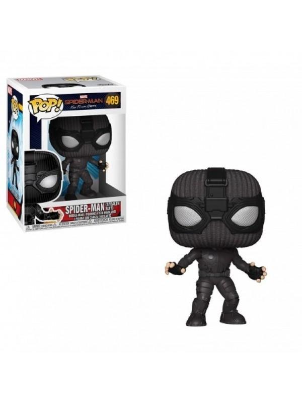 Spider-man (Stealth Suit) - Spider-Man Far From Home - Vinyl Bobble-Head - Pop! Marvel 469