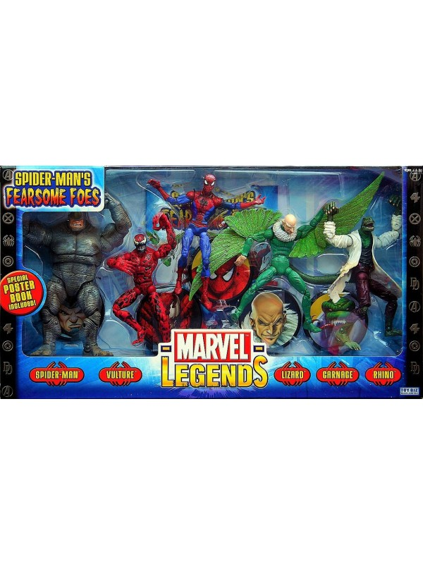 Spider-Man's Fearsome Foes - Marvel Legends - Set di 5 Action Figure - Toy Biz Worldwide