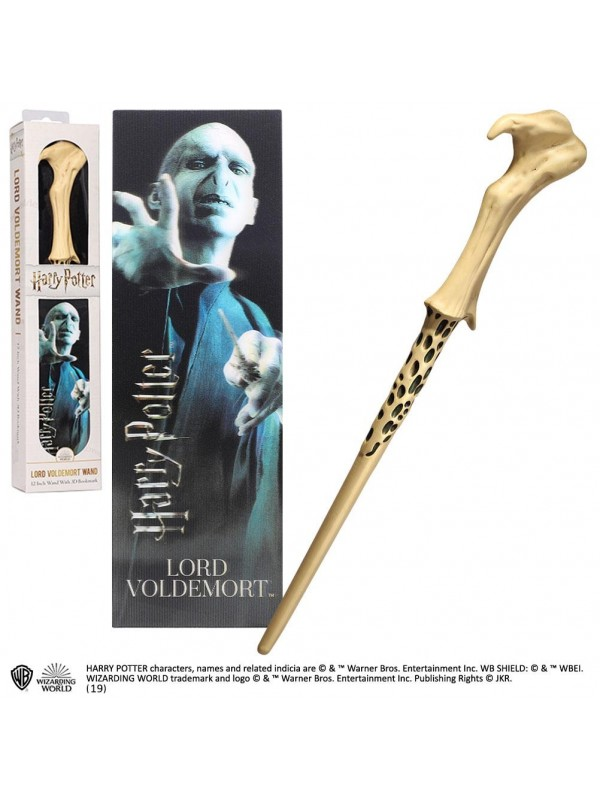 Lord Voldemort Wand (Harry Potter) - 12 Inch Wand with 3D Bookmark - Wizarding World - The Noble Collection