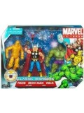 Classic Avengers - Marvel Universe Series - Set di Action Figure (Ant-man, Wasp, Thor, Hulk, Iron Man)