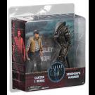 Carter J. Burke & Xenomorph Warrior - Aliens - Set di 2 Action Figure