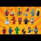 Lego Collezione Minifigures Serie 18 - Serie completa di 17 personaggi