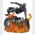 Black Panther - MARVEL GALLERY - Flaming Car PVC Diorama