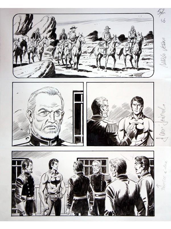 """ZAGOR Vendetta infinita - Cartella con tavola originale Zenith n. 654 - """"Nei sotterranei di Altrove"""" pag. 22  - SCLS Magazine"""
