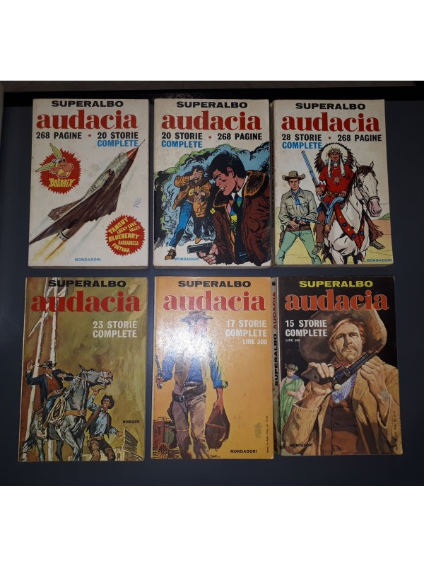 Superalbo Audacia - Mondadori - 1969/70 - Serie completa 1/6