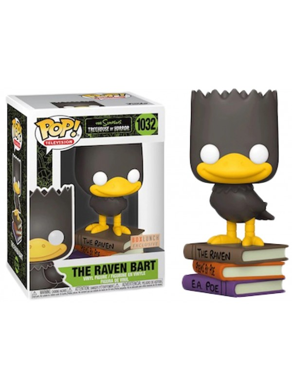 The Raven Bart - The Simpsons Treehouse of Horror - Vinyl Figure - Pop! Television 1032 - Box Lunch Exclusive