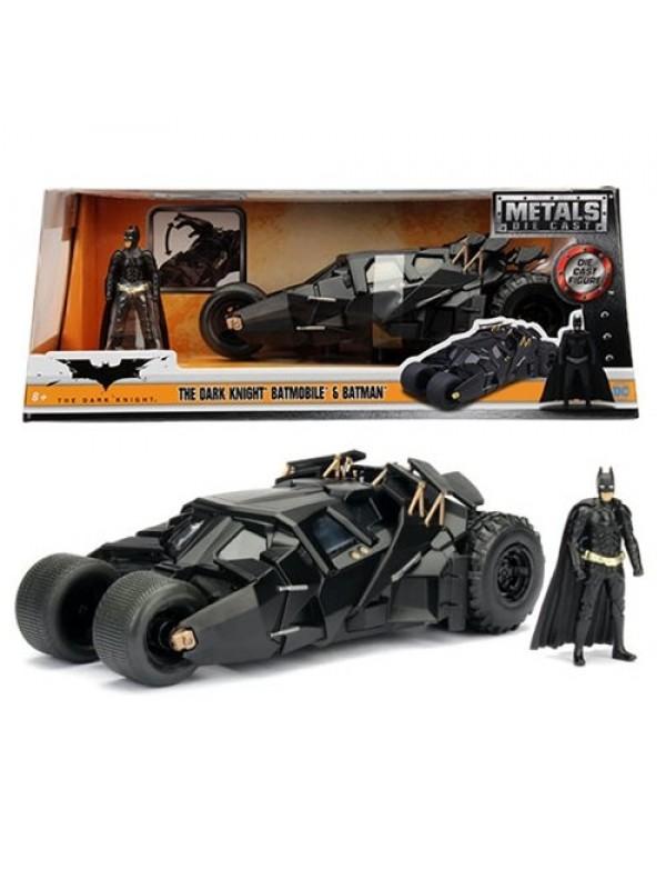 The Dark Knight - Batmobile & Batman - Metals Die Cast - Hollywood Rides
