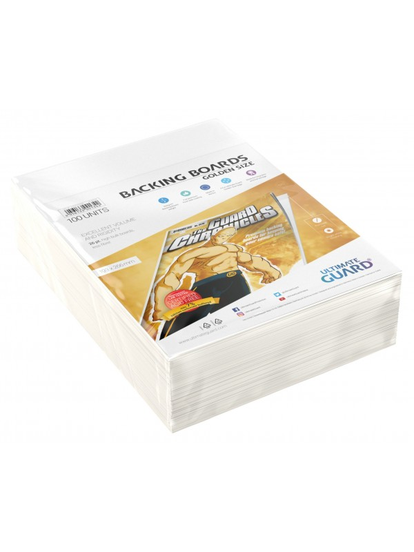Backing Boards - Golden Size - Cartoncini rigidi per fumetti (formato 193x266 mm) - Ultimate Guard