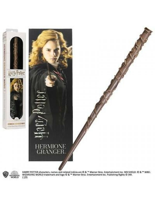 Hermione Granger Wand (Harry Potter) - 12 Inch Wand with 3D Bookmark - Wizarding World - The Noble Collection