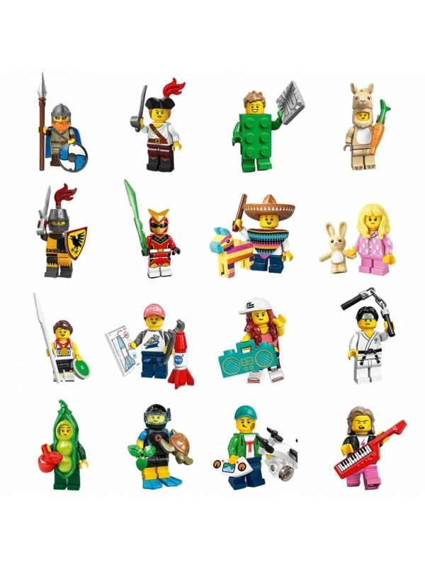 Lego 71027 Collezione Minifigures Serie 20 - Serie completa di 16 personaggi