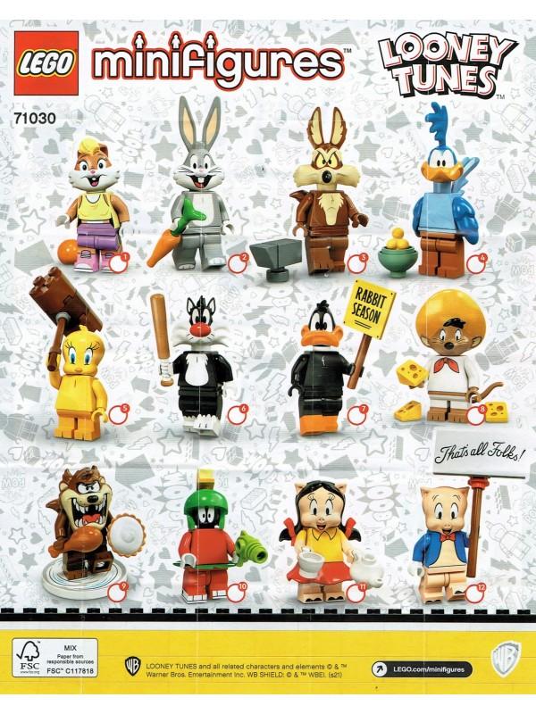 Lego 71030 Collezione Minifigures Serie 22 - Looney Tunes - Serie completa di 12 personaggi