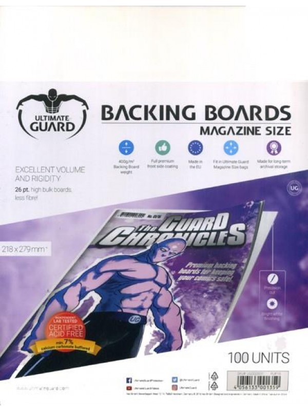 Backing Boards - Magazine Size - Cartoncini rigidi per fumetti (formato 218x279 mm) - Ultimate Guard