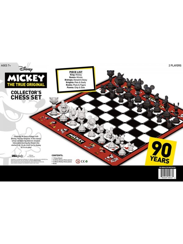 Mickey - The True Original - 90 Years - Collector's Chess Set - USAopoly