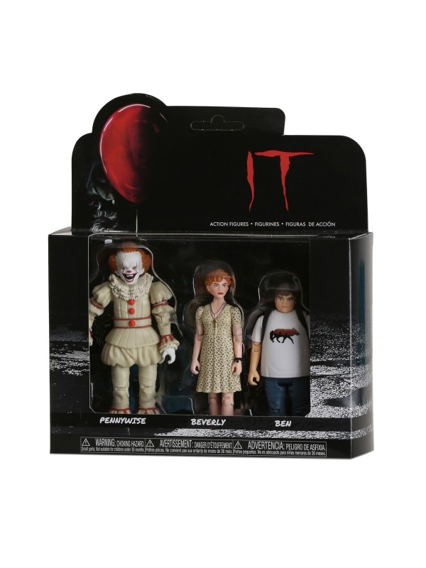 Pennywise, Beverly, Ben - IT - Action Figures - Funko - Set di 3 Personaggi