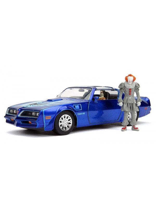 Pennywise & Henry Bower's Pontiac Firebird - American Horror Rides - Metals Die Cast - Hollywood Rides