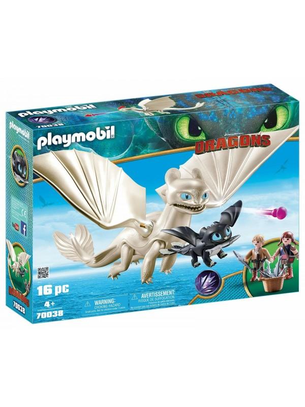 Playmobil 70038 - Furia Bianca Con Baby Dragon - Dragon Trainer 3