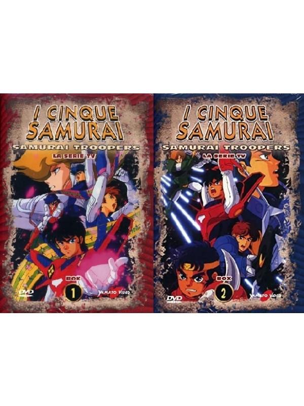 I Cinque Samurai - La Serie TV- Yamato Video - Serie Completa di 2 Box DVD