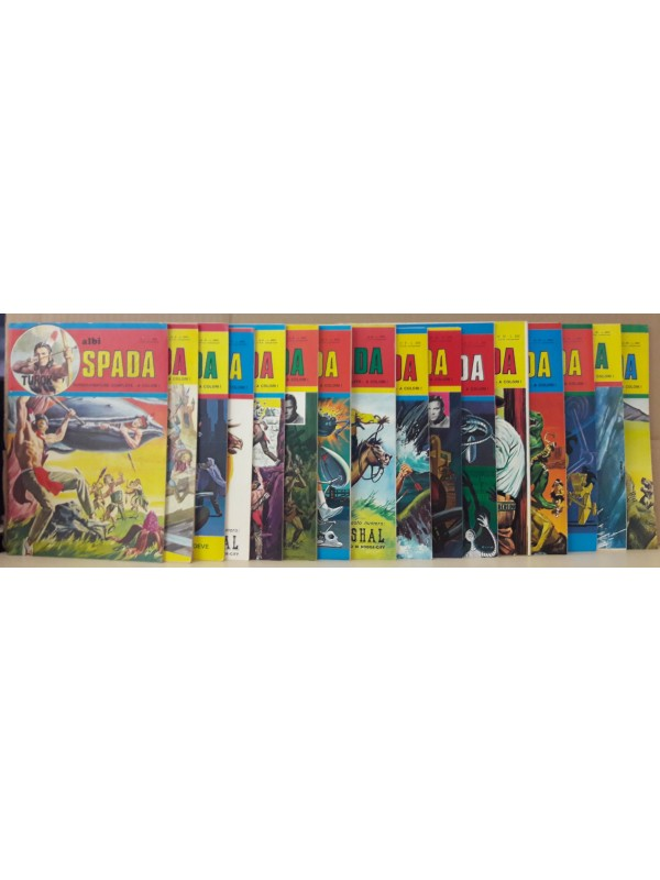 Albi Spada: Nuova serie ALBI SPADA - Superavventure complete - A colori! - Edizioni F.lli Spada - Sequenza in blocco 1/16