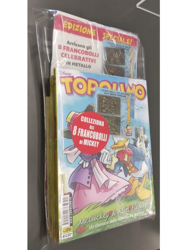 Pack Topolino 3288 - 3289 - 3291 -3292 con 8 Francobolli più Raccoglitore - Disney