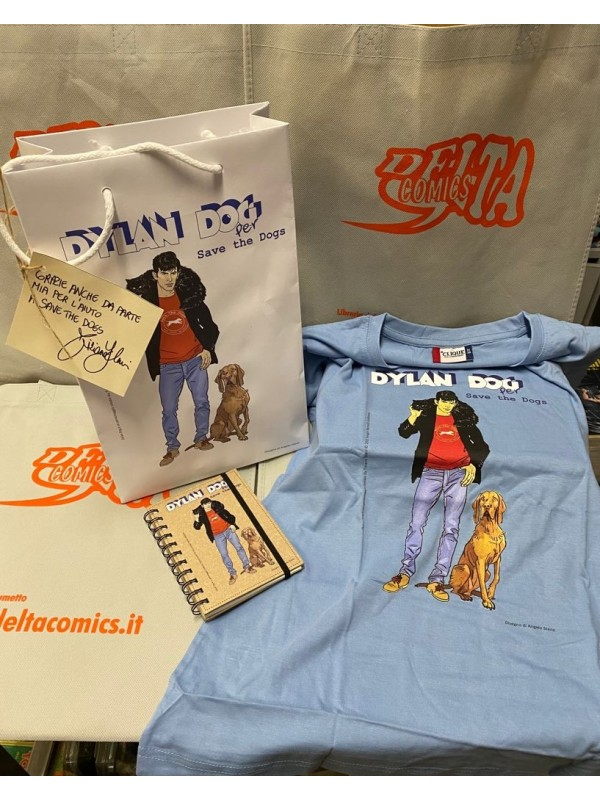 Save The Dogs Dylan Dog - T -shirt + agenda + shopper bag - Speciale 10 anni - Angelo Stano