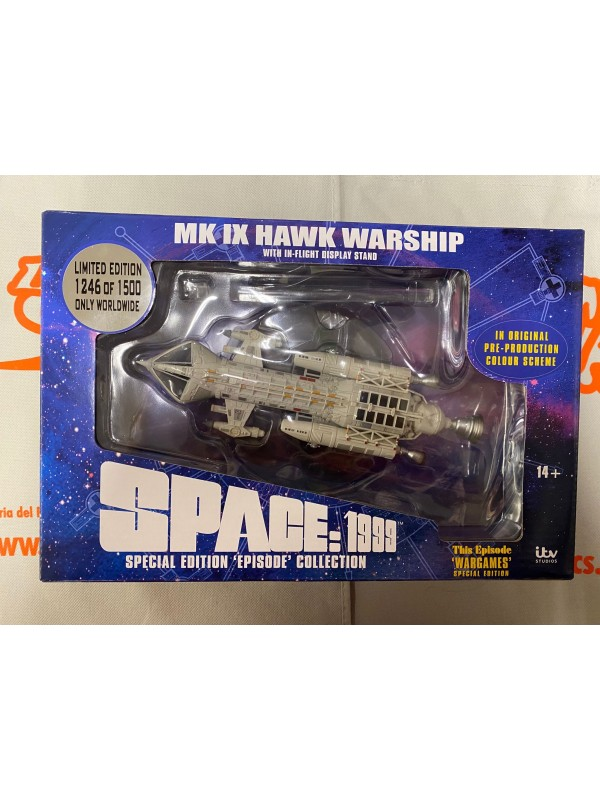 Space 1999 - MK IX Hawk Warship - Special Edition 'Episode' Collection 1246/1500 - This Episode 'Wargames' - Sixteen 12 - ITV Studios Spazio 1999