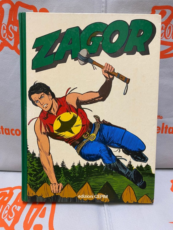 """Zagor Lo spirito con la scure - Volume Cartonato """"verde"""" a colori 1977 - edizioni CEPIM"""