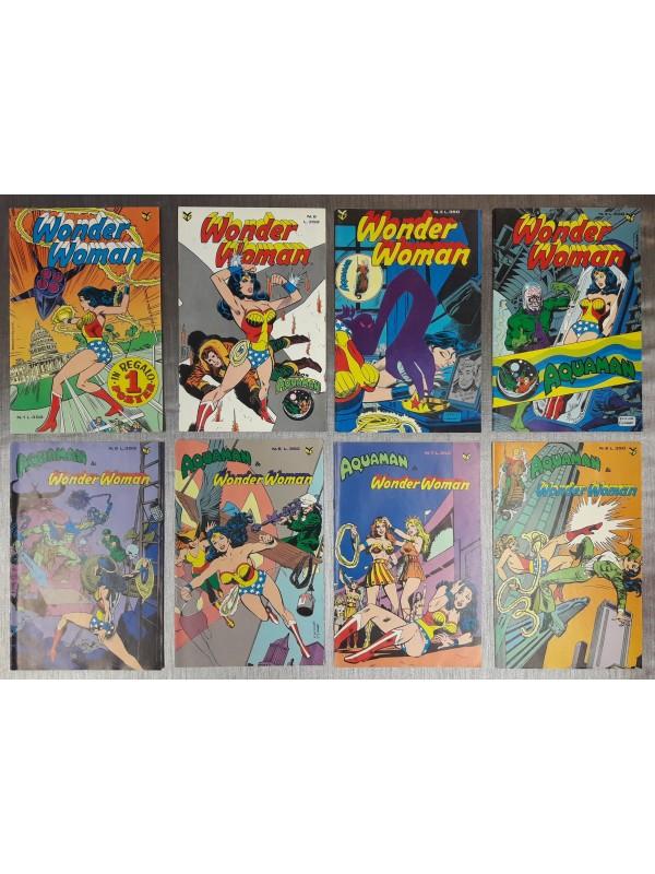 Wonder Woman - Wonder Woman (con Aquaman) - Edizioni Cenisio - 1980 - Serie completa 1/8