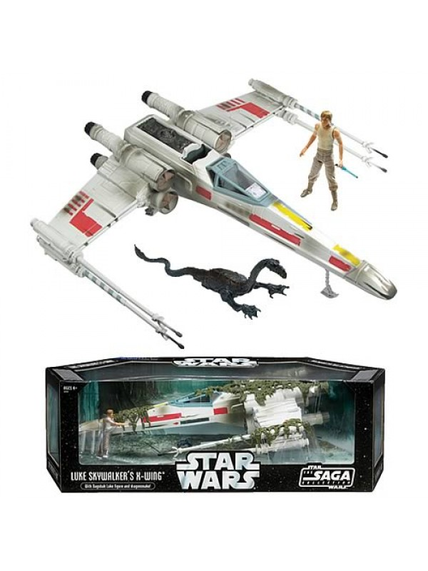 Luke Skywalker's X-Wing - With Dagobah Luke figure and Dragonshake! - Star Wars